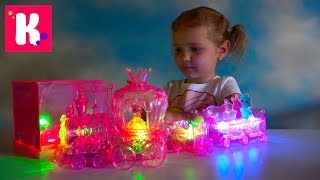 Игрушки с подсветкой Moon Beams паровозик животные и мебель для кукол светятся яркими цветами