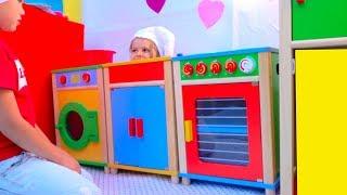 DIY Детский ДоМ РЕСТОРАН с игровой кухней - Мисс Кейти