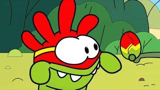 Раскраска с Ам Нямом - Пасхальный Переполох - Учим цвета - Развивающее видео для детей