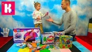 Посылка с игрушками Доктор Плюшева фашемс и шарики животные Орбиз Box with  animals Orbeez