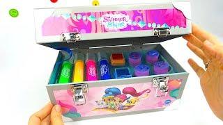 Шиммер и Шайн игровой набор с раскрасками, наклейками, красками и карандашами