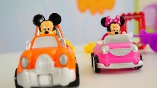 Видео про машинки: Микки Маус и игрушки Щенячий патруль