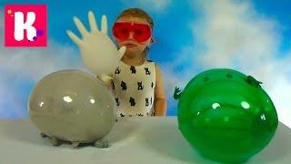 Шарики воздушные животные надуваем с помощью научного опыта дома Air balloons inflate animals