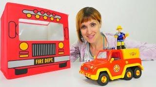 Распаковка игрушек из мультика Пожарный Сэм - Полный порядок 4