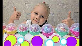 Алиса открывает ПИКМИ ПОПС! Мягкие игрушки в ШАРИКАХ на палочке!!!
