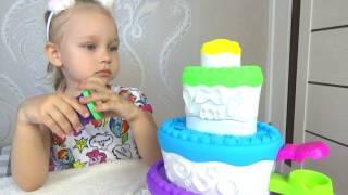 КЛАССНЫЙ тортик Плей До  Алиса празднует день рождения тигрёнка  Развлечение для детей