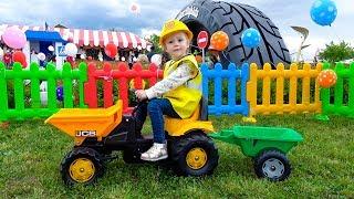 Детская площадка и песенка Джони Джони Johny Johny Yes Papa Nursery Rhymes song for Kids Playground