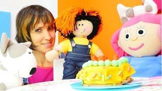 Игры для девочек - Торт для куклы Маши и Смарты