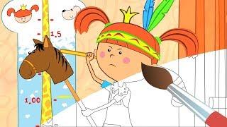 Раскраска с Царевной Убери игрушки - Учим цвета - Развивающие, обучающие мультики для детей