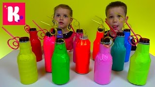 Челлендж Айс Ти угадай вкус фруктового холодного чая Kids Ice Tea Challenge Miss Katy