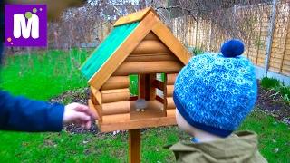ВЛОГ Домик для белочек и птичек Куча посылок и Королевские кресла в игровую комнату Макса и Кати