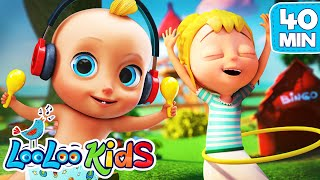 DANCE & ACTION Songs for KIDS with Johny Johny Nursery Rhymes Collection LooLoo KIDS