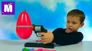 Русская рулетка играем в игру с воздушным шариком и пистолетом с иголкой
