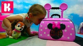 Питомец Минни Маус собачка ФиФи в чемоданчике для перевозки Minnie Mouse pet FiFi