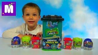 Открываем огромный контейнер Трэш Пэк и два мусорных ведра и унитаза с игрушками Trash Pack toys