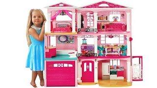 Дом куклы Барби - Самая большая Игрушка на Kids Diana Show