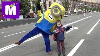 Киев День7 на Майдане катаемся на электрокаре купим рюкзак Человек-паук встретим Миньен Фиксики