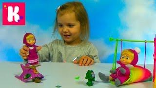 Маша и Медведь распаковка игрушки и игровая площадка с качелей и горкой Masha and the Bear doll