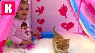 Доктор Плюшева набор ветеринара играем с кошечкой Муркой в доктора Doc McStuffins set
