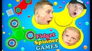 РАСКРУТИ свой СПИНЕР игра как Слизарио развлекательное видео детям от FFGTV про fidget spinner games