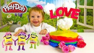 Плей до торт из Play Doh подарок на День святого Валентина