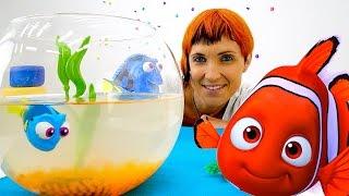 Видео для детей - Бассейн для рыбки игрушки Дори