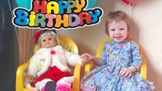 VLOG: День Рождения Настюши Распаковка и обзор говорящей  куклы Настеньки