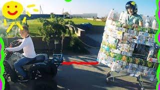 Прицепили корзину к Квадроциклу и разогнали 100 км/час Женя перевернулась