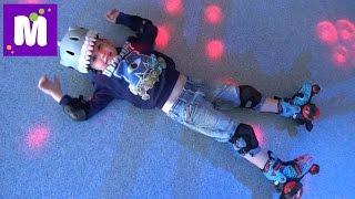 Rich Sport первое катание на самокате первые шаги на роликах  Леопарк детский развлекательный центр