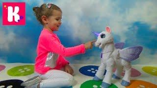 Сказочная СтарЛили лошадка интерактивная пони единорог от Хазбро Fur Real Friends Star Lily Hasbro