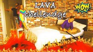 Пол это ЛАВА в 3 часа ночи The FLOOR is LAVA Challenge