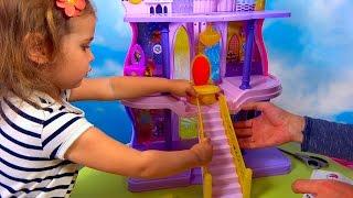Пони Майл Литл Пони Дворец Принцессы Силестии распаковка игрушки My Little Pony Casstle of Selestia