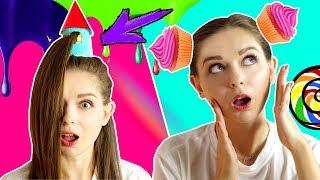 Повторяю безумные прически из интернета  Кексы из волос  Башня с Рапунцель на голове  Afinka