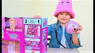 Крутая ПОДСТАВКА для кукол ЛОЛ. ЧЁРНЫЙ ШАРИК с сюрпризом - Мими Лисса