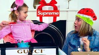 Mistery Box и GUCCI SUPREME для Кати и мамы! Угадай стоимость!