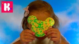 Минни Маус с шариками Бабочка и Червяк из геля и краски с присыпкой DIY Cling Creator Crayola
