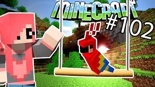Minecraft - ЖЕРДОЧКА ДЛЯ ПОПУГАЯ  СТРОЮ КАК НУБ (Серия 102)