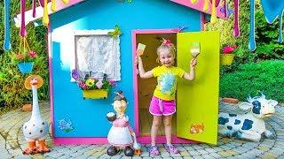 Детский игровой домик своими руками!