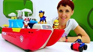Щенячий патруль и Маша Капуки - распаковка - морской катер.