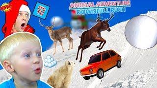 СИМУЛЯТОР Катания на САНЯХ Со ЗВЕРЯМИ в игре Animal Adventure.