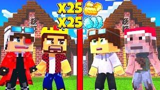 НОВАЯ ИГРА СПРЯТАТЬ РЕСУРСЫ В МАЙНКРАФТЕ 2 vs 2 Minecraft