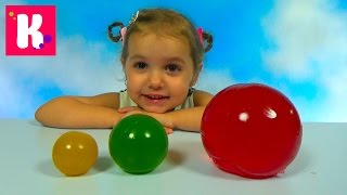 Желейные прыгучие шары делаем сами из фруктового желе Giant Gummy balls