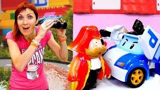 Машинка Робокар Поли и пожарный Сэм ловят Пирата. Капуки Кануки