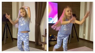 Алиса танцует под песню про себя