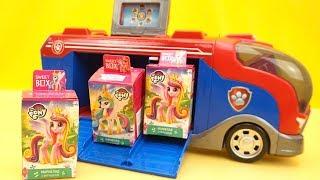 Фургон из Щенячьего Патруля привез сюрпризы и игрушки
