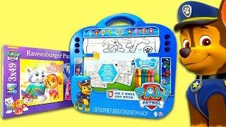 Щенячий патруль игрушки, раскраска и классные пазлы