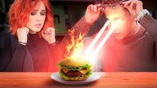 Обычная еда против еды для супергероев 7 идей - Челлендж