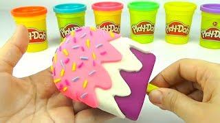 Пластилин для детеи, учимся лепить мороженое и животных