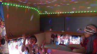 Переделка кемпера часть. 2 клеем светодиодную ленту и устанавливаем  магический шар