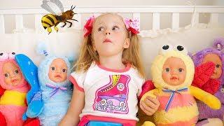 Настя и странные куклы пупсики
